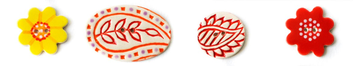 Indian Inspired Buttons Stockwell Ceramics