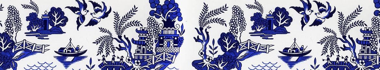 Willow Pattern Cufflinks Stockwell Ceramics