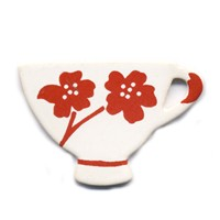Tea Cup Brooches Stockwell Ceramics